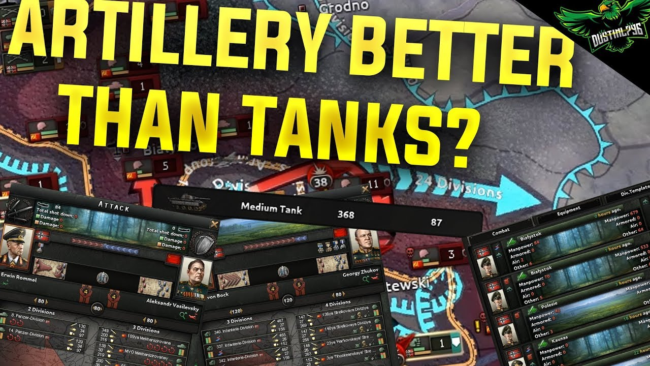 HOI4 When Artillery is Better than Tanks (Hearts of Iron 4 Man the Guns  Guide)