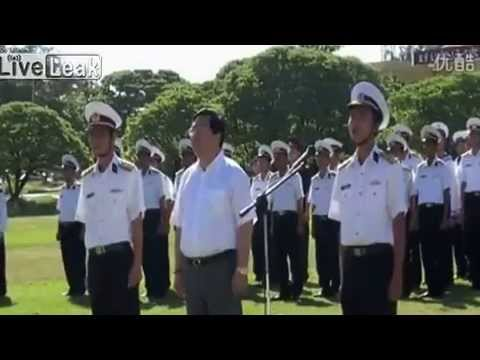 South China Sea: Vietnamese Troops Parade On Occupied Island