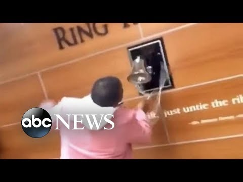 Mother of 3 excitedly rings the hope bell after learning she's beat cancer!
