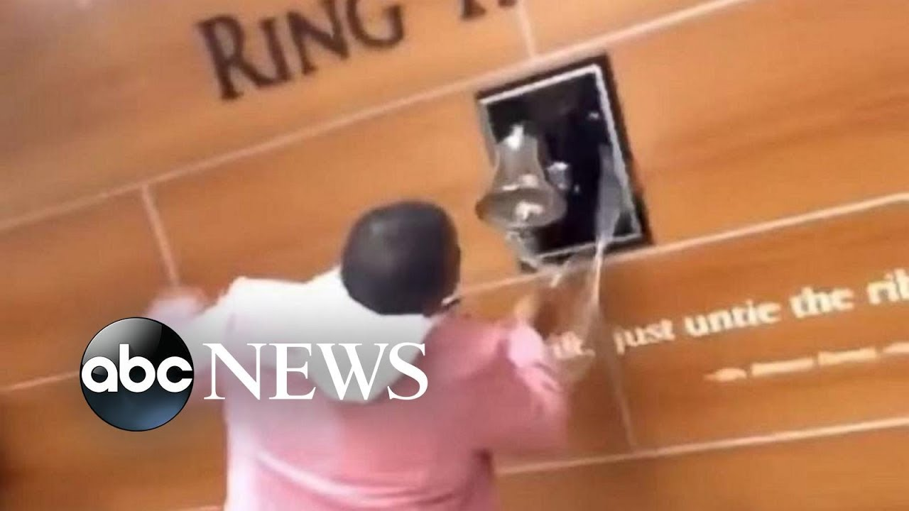 Mom of 5 joyfully rings bell after learning she's cancer-free   GMA Digital