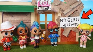 Punk Boi & NEW LOL Surprise Boys Wont Play with Baby Goldie! No Girls Allowed!
