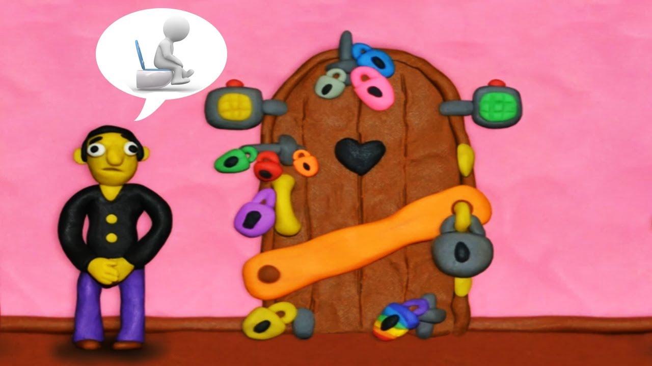 КАК ОТКРЫТЬ ЭТУ ДВЕРЬ ? 12 ЗАМКОВ Игра головоломка 1 часть Пластилиновая комната  Что за дверью?
