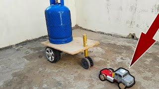 هل تستطيع شاحنتي المصنوعة في المنزل ان تسحب أسطوانة غاز ثقيلة. سيارة ريموت تسحب اسطوانة غاز