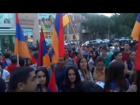 Акция благодарности у Посольства Германии в Армении