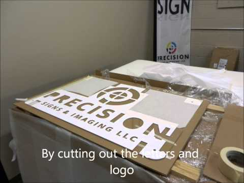 Fabrication of an acrylic stand off sign with 3D letters