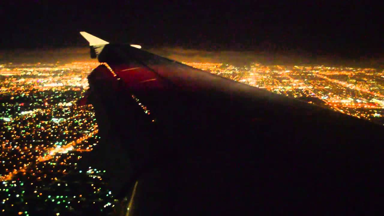 Night Landing In Los Angeles KLAX Jet Blue Flight