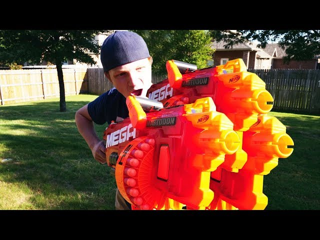 NERF WAR : WORLD'S MOST POWERFUL GUNS!