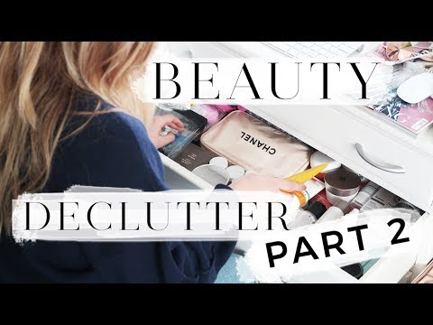 BEAUTY CLEAR OUT & DECLUTTER: SKINCARE & BATHROOM SPRING CLEAN | Hello October