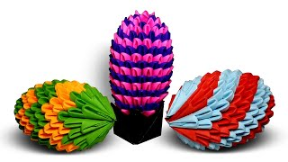 3D Origami Paper Easter Egg with Holder or Stand