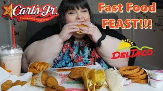 Carls Jr & Del Taco Fast Food Feast Mukbang