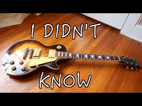 5 Thing's I Didn't Know About My Les Paul