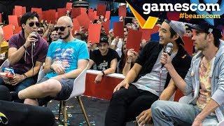 Live Quiz auf der gamescom 2018 mit Lars, Budi, Gregor, Dennis & Viet