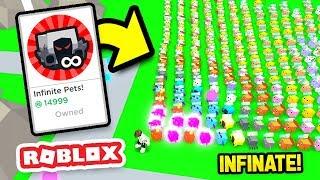 Buying The INFINITE PET GAMEPASS In Pet Walking Simulator!! (Roblox)