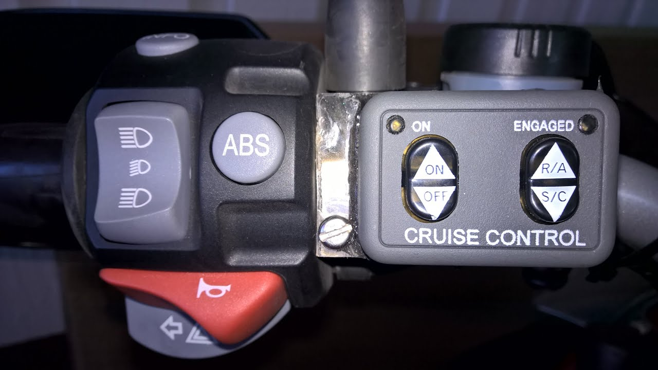 Rostra Cruise Control on BMW R 1200 GS 2007 - YouTube