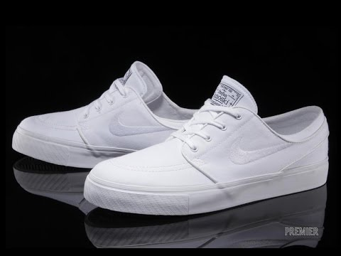 Maryanne Jones Perfecto tira  NIke SB Stefan Janoski white Leather unboxing 2016 - YouTube