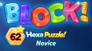 block hexa puzzle novice level 62 basic lsung solution walkthrough