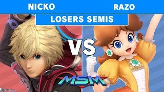 MSM 194 - Demise | Nicko (Shulk) Vs. Razo (Peach) Losers Semis - Smash Ultimate