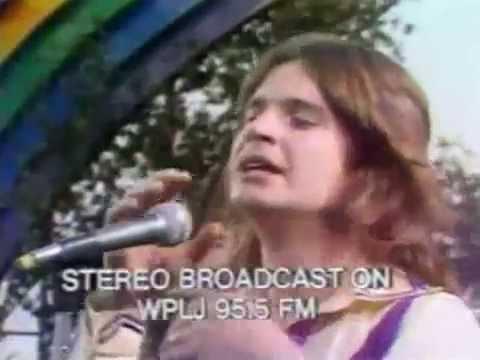 Black Sabbath at California Jam COLOUR, CORRECT A:R  4 SONGS