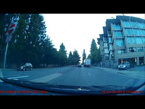 Idiot motorcyclist in Lynn Valley, North Vancouver, BC