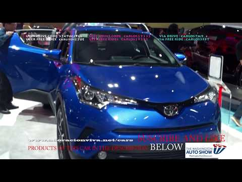 2019 TOYOTA C-HR BLUE WASHINGTON DC AUTO SHOW 2018