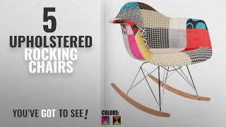 Top 10 Upholstered Rocking Chairs [2018]: 2xhome - Single (1) - Multi-color – Modern Upholstered