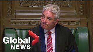 UK Speaker John Bercow gives emotional statement after MPs bid farewell