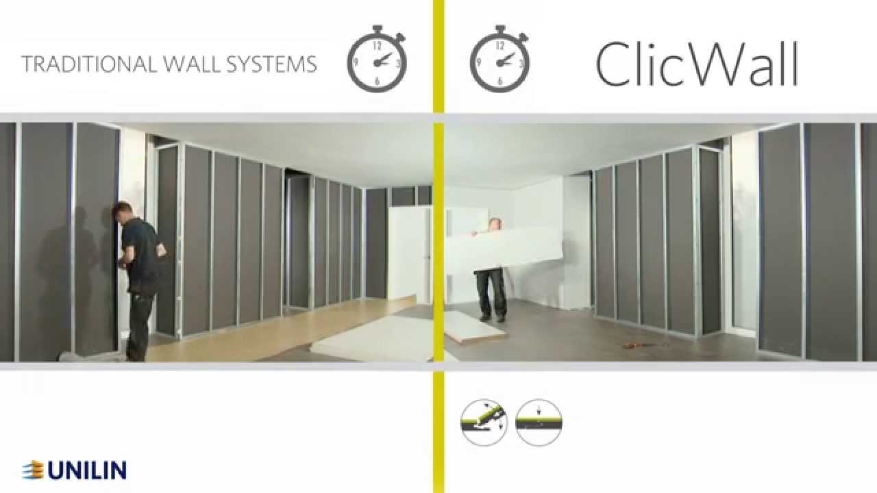 ClicWall - Virtually seamless MDF walls with an instant finish