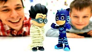 Герои в масках: Кетбой против злодея Ромео. Видео с игрушками для детей.