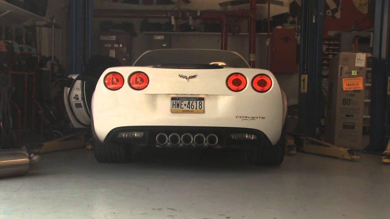 C6 Corvette Grand Sport >> Corvette C6 Grand Sport with Custom Race Exhaust - YouTube