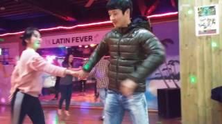 20170201  Free salsa dancing w/ The Dancer & Yaru