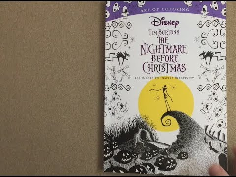 Tim Burton Nightmare Before Christmas Artwork.Tim Burton S The Nightmare Before Christmas Disney Art Of Coloring Flip Through