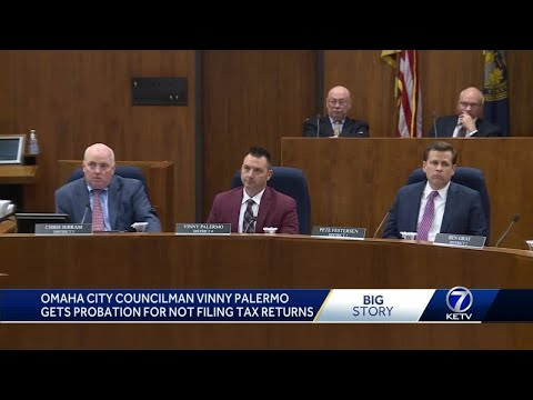 Omaha city council member sentenced for failing to file tax returns