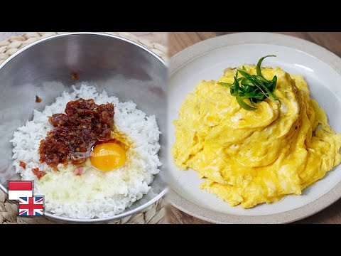 Cuma Diaduk. Resep Nasi Goreng Korea Dengan Selimut Telur!