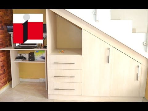 Optimus dmi modular bajo escalera loma real youtube for Muebles para tv bajo escalera