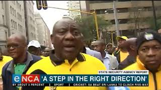 State Security Agency report 'a step in the right direction' - Ramaphosa