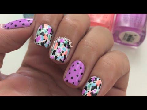 Easy Nail Art-Free Hand Splatter Tutorial