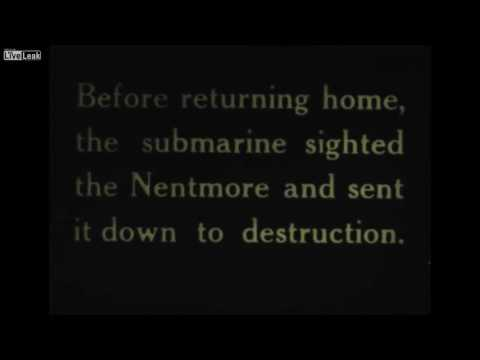 THE FIRST WORLD WAR: Rare German navy Submarine Combat Footage