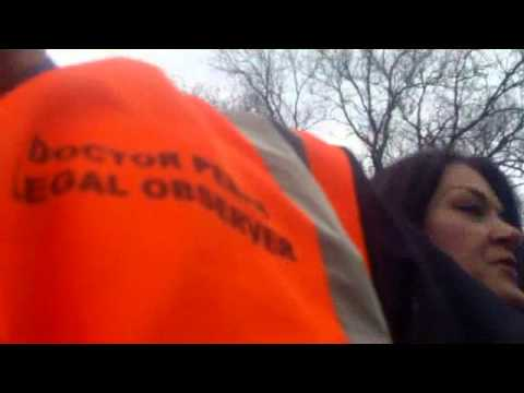 Salford Social Services collude with police to snatch children from Fracking protest