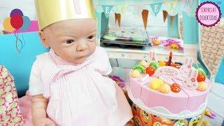 Mejor Cumpleaños de reborn Lindea con Ben I Muchos juguetes regalos, Dulces y Correo de Fans