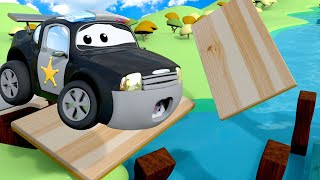 London Bridge is Falling Down - Nursery Rhymes Songs for Children with Trucks of Car City