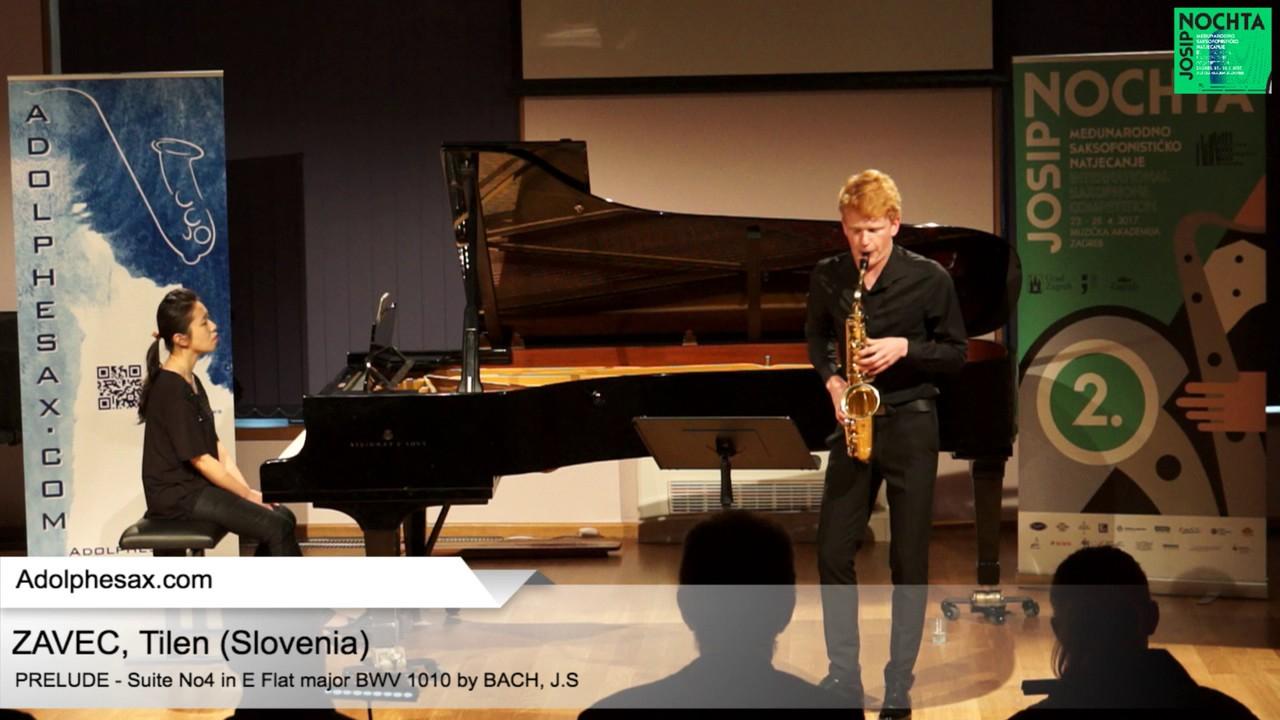 Johann Sebastian Bach – Suite No 4 in E- at major BWV 1010 Pre?lude – ZAVEC, Tilen (Slovenia)
