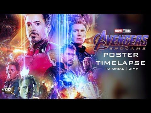 Avengers Endgame Poster - Gimp Time Lapse Tutorial thumbnail