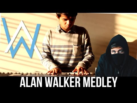 ALAN WALKER - ACOUSTIC PIANO MEDLEY 🎹 Alone + Faded + Force + Sing Me To Sleep