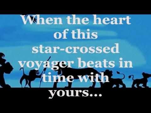 DISNEY - CAN YOU FEEL THE LOVE TONIGHT LYRICS