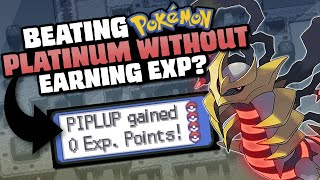 HOW EASILY CAN YOU BEAT POKEMON PLATINUM WITHOUT EXP?