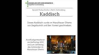 Kaddish: by Segalovitch and Ben Yomen | Written in Warsaw Ghetto