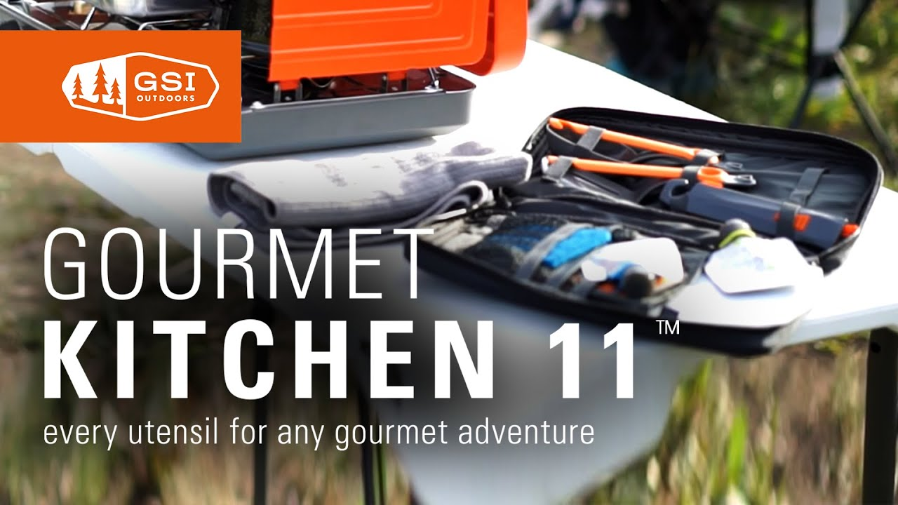 Gsi Outdoors Gourmet Kitchen Set 11 Camping Chef Toolset Youtube