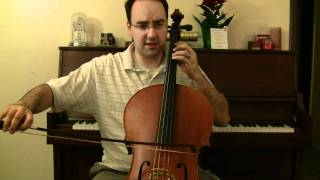 Gavotte in C Minor by Bach - Cello Lessons Book 3