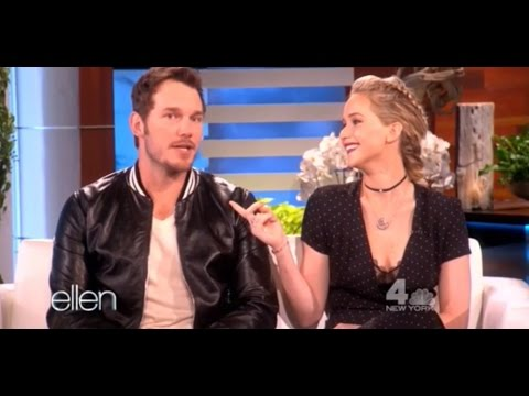 Jennifer Lawrence and Chris Pratt at The Ellen DeGeneres  11102016  Full