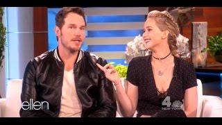 Jennifer Lawrence and Chris Pratt at The Ellen DeGeneres Show (11-10-2016) | Full interview